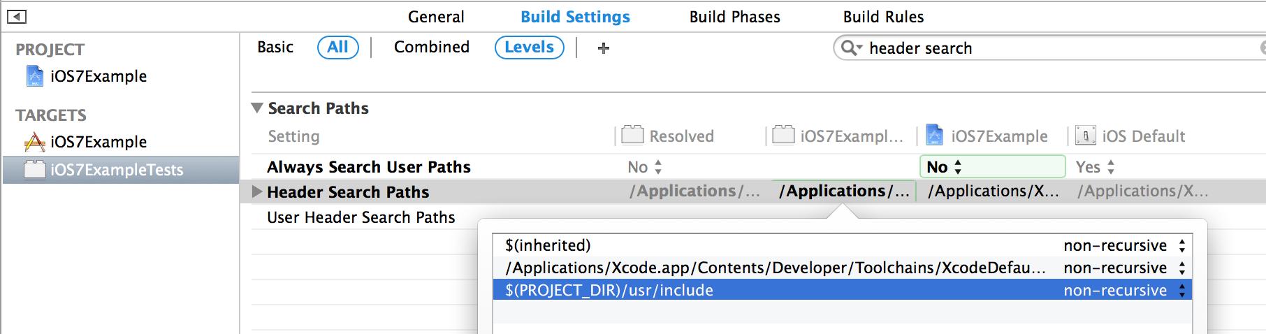 iOS Project Setup · OCMock